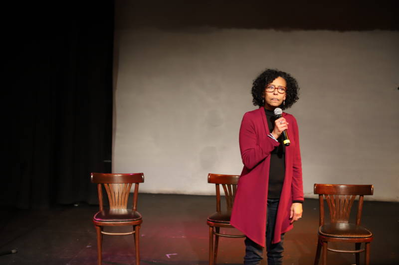 Margo Hall encouraged the audience to complicate black stereotypes.