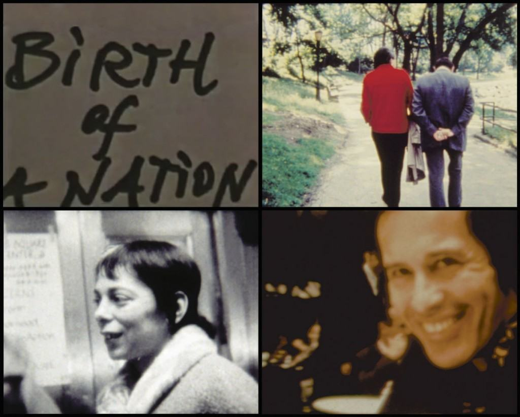 Images from Jonas Mekas' 'Birth of a Nation,' 1997.