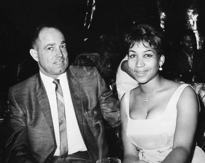 Reid's Records cofounder Mel Reid with a young Aretha Franklin.