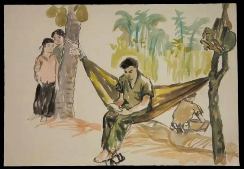 """Still from Dinh Q. Lê's """"Light and Belief: Voices and Sketches of Life from the Vietnam War"""" (2012)"""