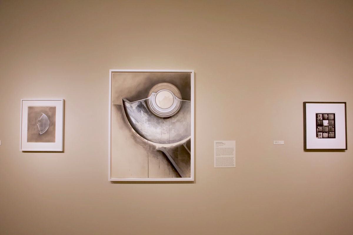 Installation view of 'Undersoul: Jay DeFeo' on view at San Jose Museum of Art, March 8-July 7, 2019.