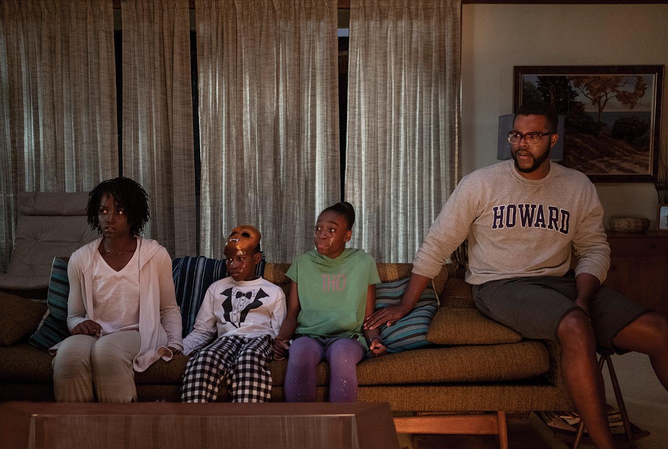 Adelaide Wilson (Lupita Nyong'o), Jason Wilson (Evan Alex), Zora Wilson (Shahadi Wright Joseph) and Gabe Wilson in 'Us.'