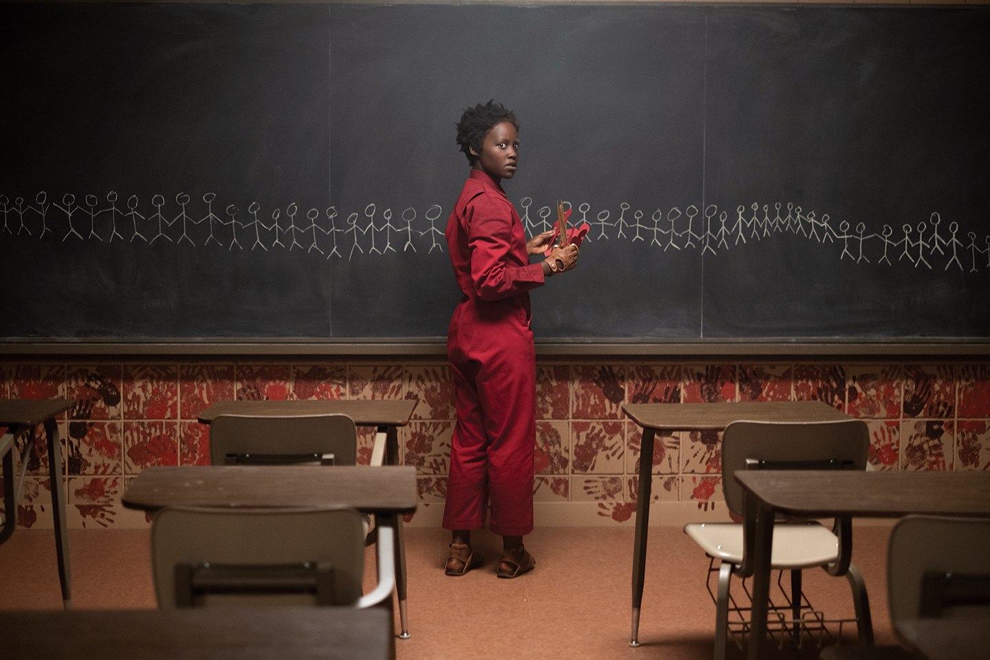 Lupita Nyong'o as Adelaide Wilson's doppelgänger in 'Us,' written, produced and directed by Jordan Peele.
