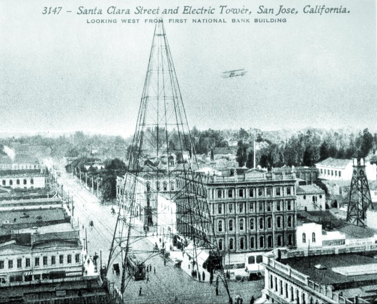 The Electric Light Tower was proposed by the publisher of the San Jose Mercury, the precursor of the Mercury News. In 1881, the tower was a pioneering use of electricity for municipal purposes.