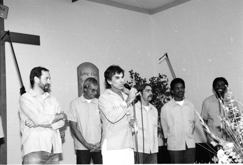 Mickey Hart at the concert inside San Quentin State Prison that resulted in the 1993 release of 'He's All I Need.'