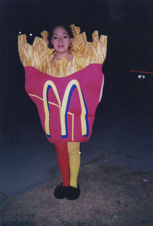 Photographer unknown, [Woman in Fries Costume], date unknown.