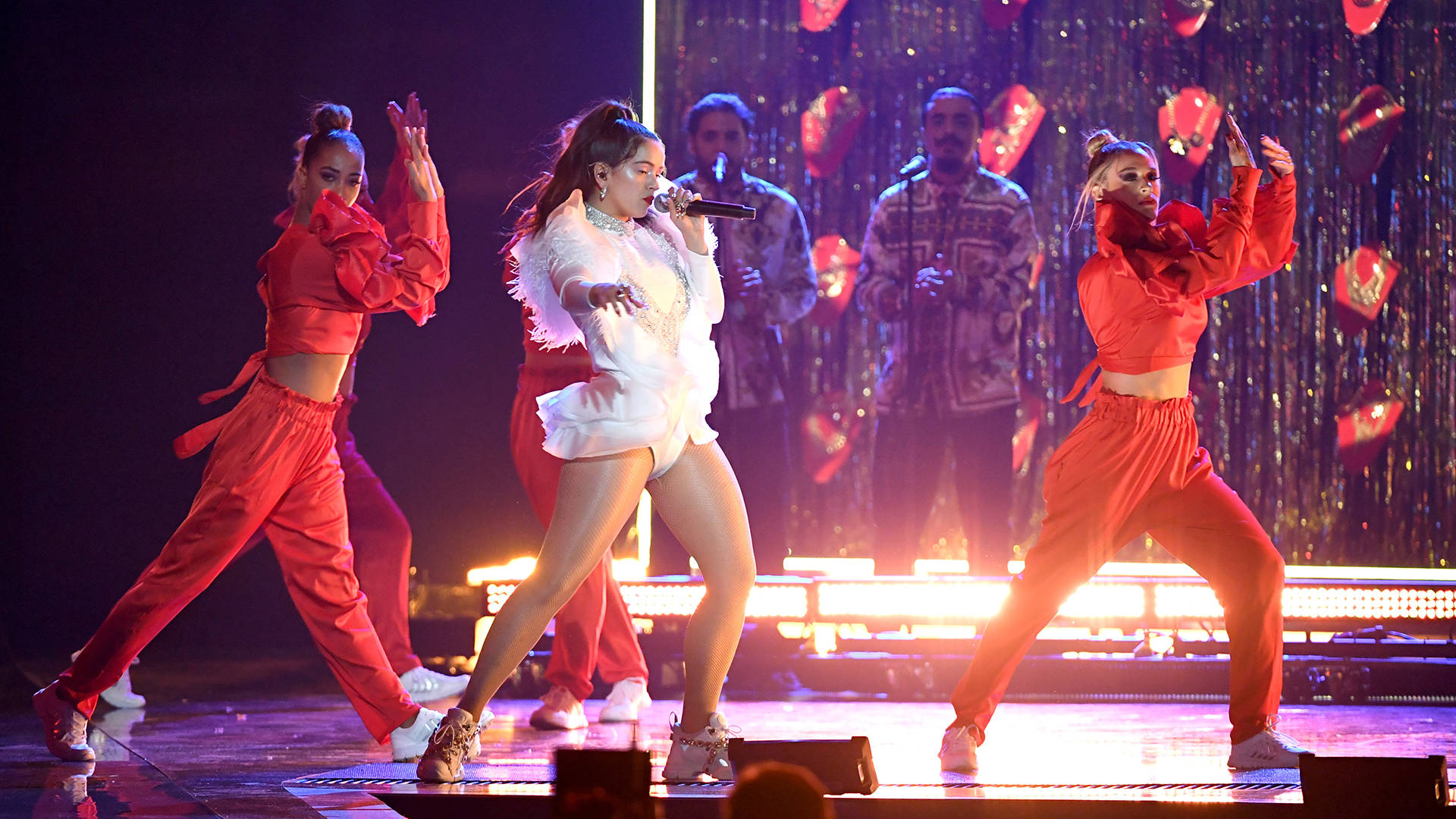Rosalia performs onstage during the 19th annual Latin GRAMMY Awards at MGM Grand Garden Arena on November 15, 2018 in Las Vegas, Nevada.  Ethan Miller/Getty Images for LARAS