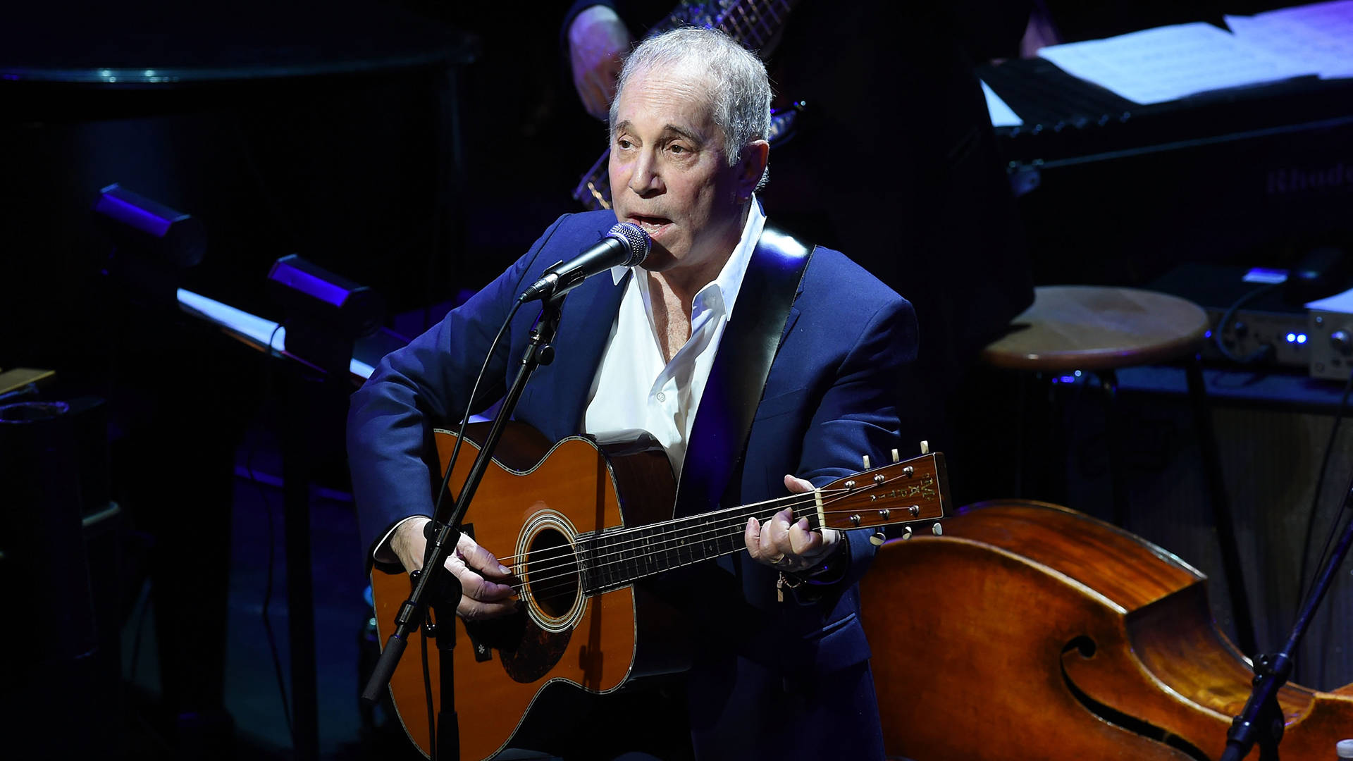 Paul Simon performs during The Nearness Of You Benefit Concert at Frederick P. Rose Hall, Jazz at Lincoln Center on January 20, 2015 in New York City.   Ilya S. Savenok/Getty Images