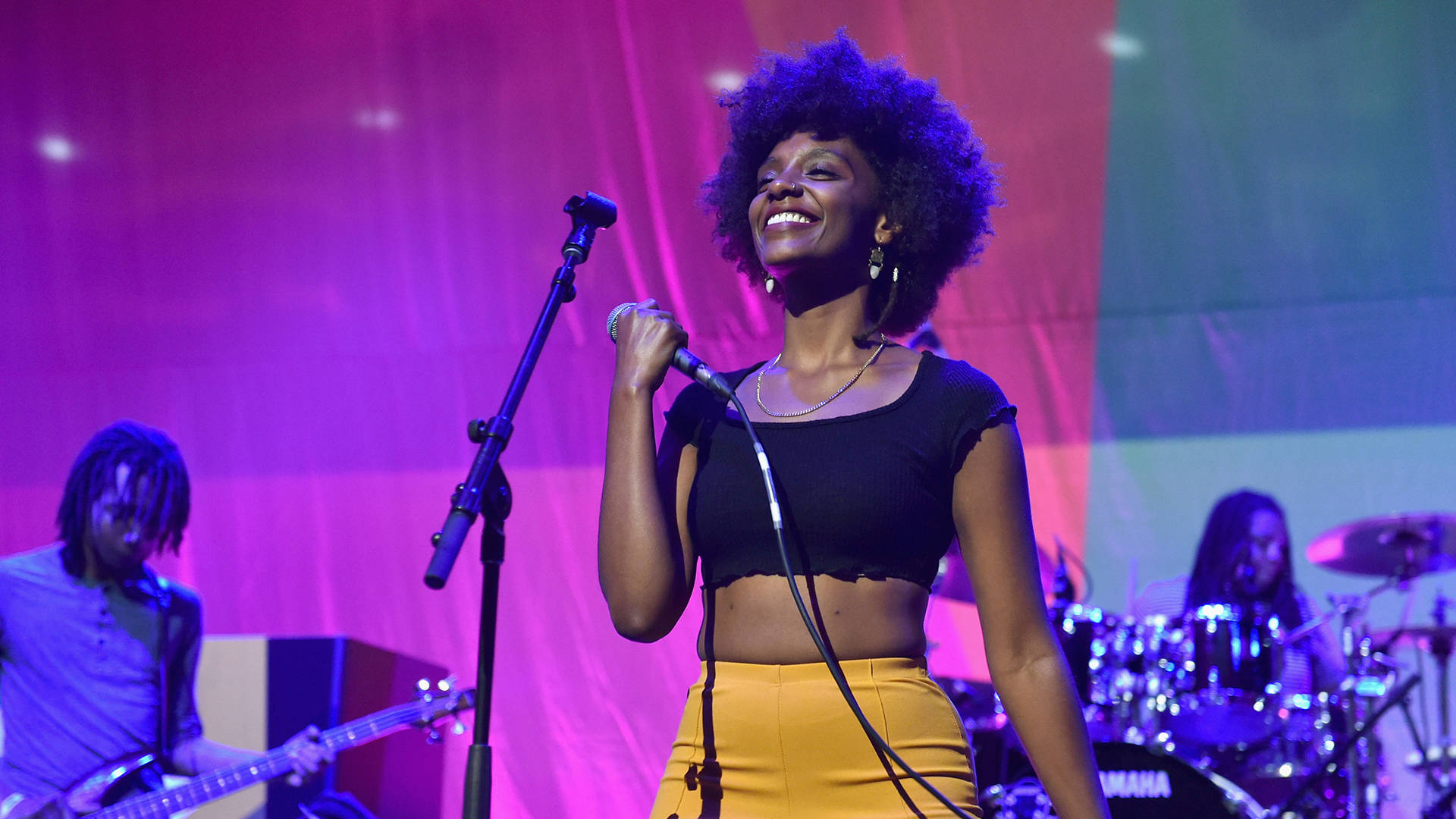 Mereba performs onstage during the 2018 BET Experience on June 23, 2018 in Los Angeles.  Aaron J. Thornton/Getty Images for BET
