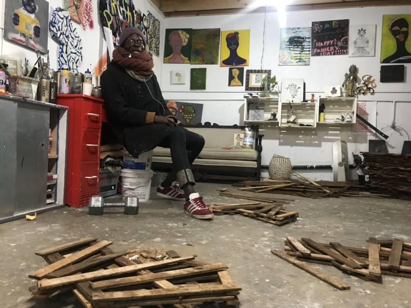 Githinji Mbire at Alena Musuem and Art Gallery in West Oakland