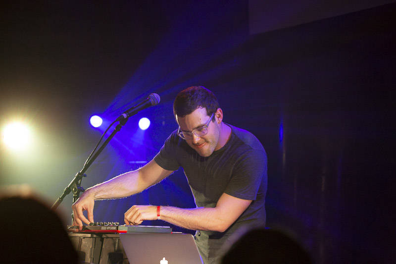 Electronic artist Will Wiesenfeld dazzles the crowd with witty stage banter and dance tunes during Baths set at Great American Music Hall on Wednesday, February 27, 2019.