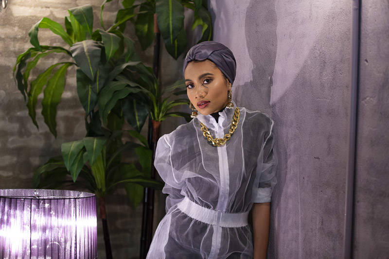 Yuna sports a '90s inspired look backstage before performing sweet R&B tunes at The UC Theater in Berkeley on night five of the the 2019 Noise Pop Music and Arts Festival.