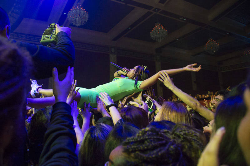 Princess Nokia gets up close and personal with her fans at The UC Theatre on the sixth night of the 2019 Noise Pop Music and Arts Festival.