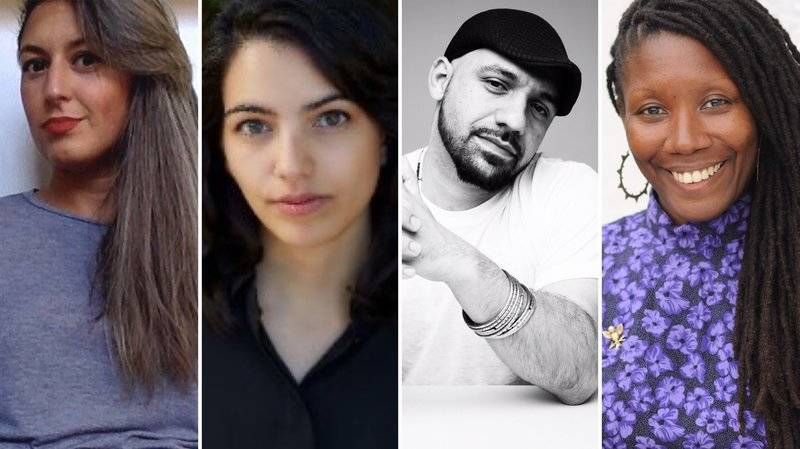 From left to right: Chimene Suleyman, Fatima Farheen Mirza, Daniel José Older and Nicole Dennis-Benn.