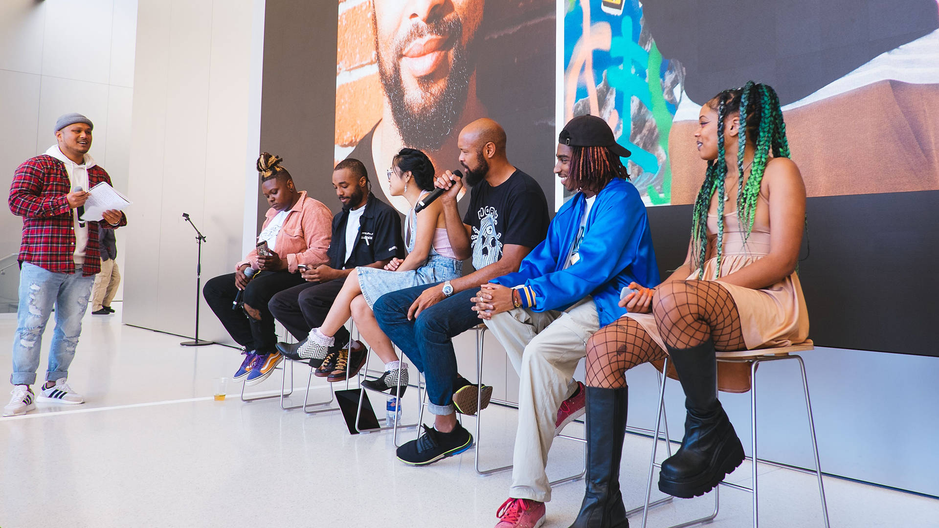 Creative collective Le Vanguard performed and did a panel discussion at the Apple store in Union Square in August 2018. Kristian Contreras/YK La Familia