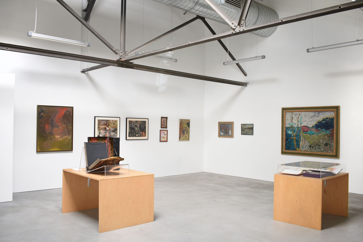 Installation view of 'Secret Compartments' at Anglim Gilbert Gallery.