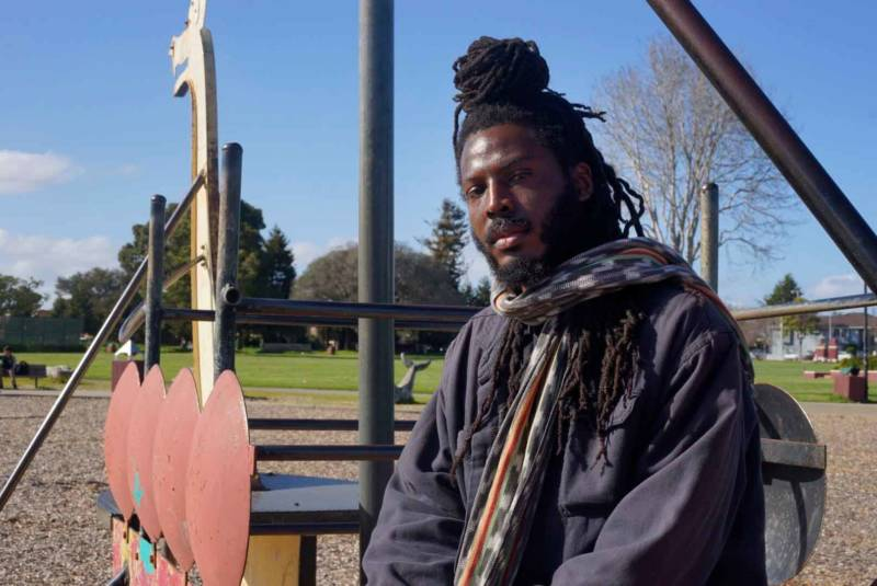 Donté Clark in Richmond's Nichol Park.
