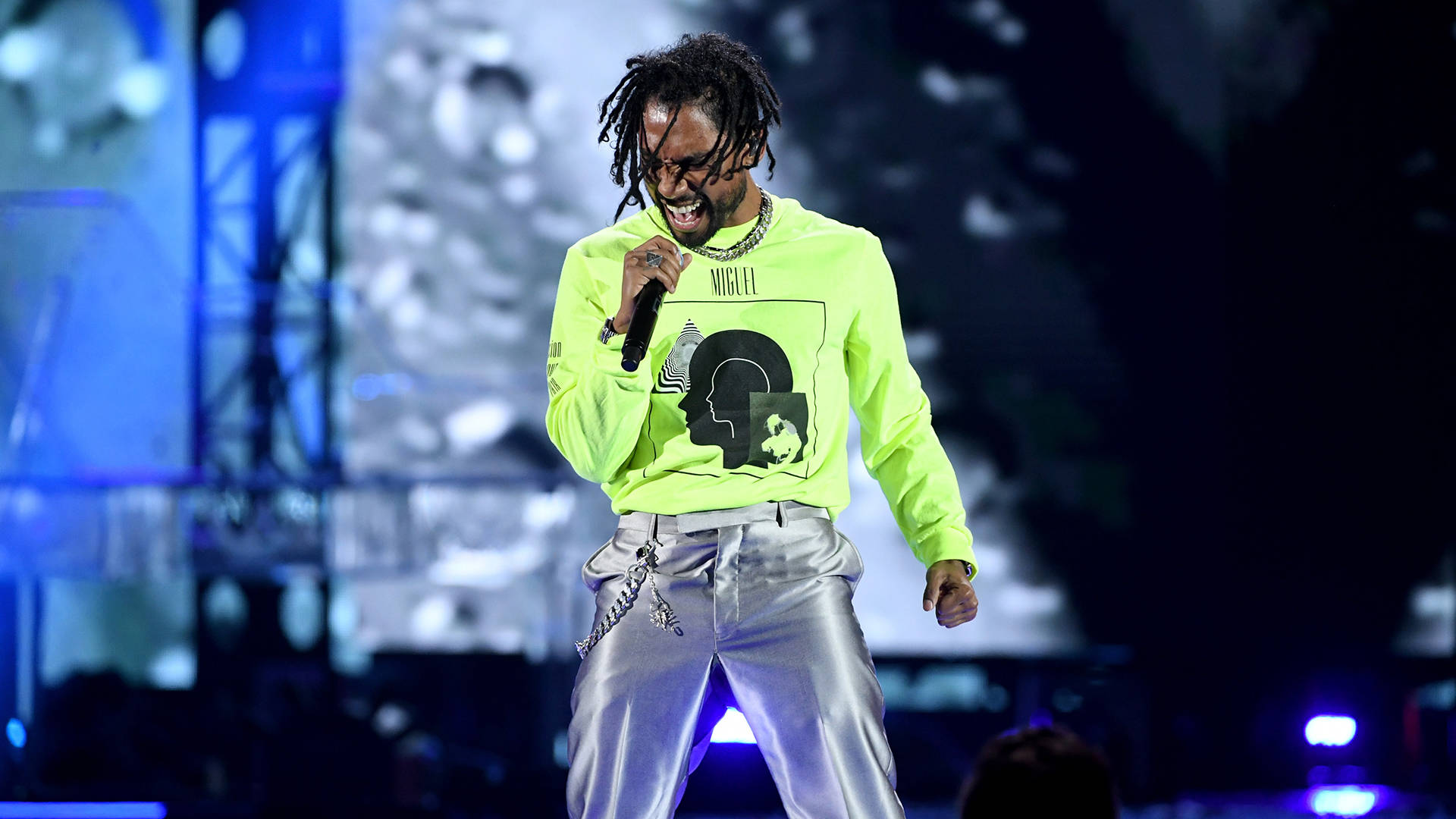 Miguel performs during the 2018 iHeartRadio Music Festival on September 21, 2018 in Las Vegas, Nevada.  Kevin Winter/Getty Images for iHeartMedia
