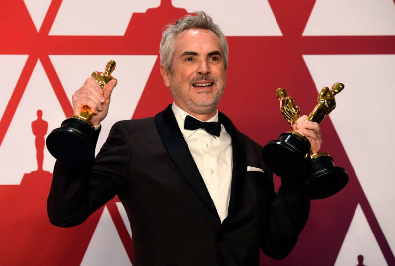 : Alfonso Cuaron, winner of Best Foreign Language Film, Best Director and Best Cinematography for 'Roma,' poses in the press room during the 91st Annual Academy Awards at Hollywood and Highland on February 24, 2019 in Hollywood, California.