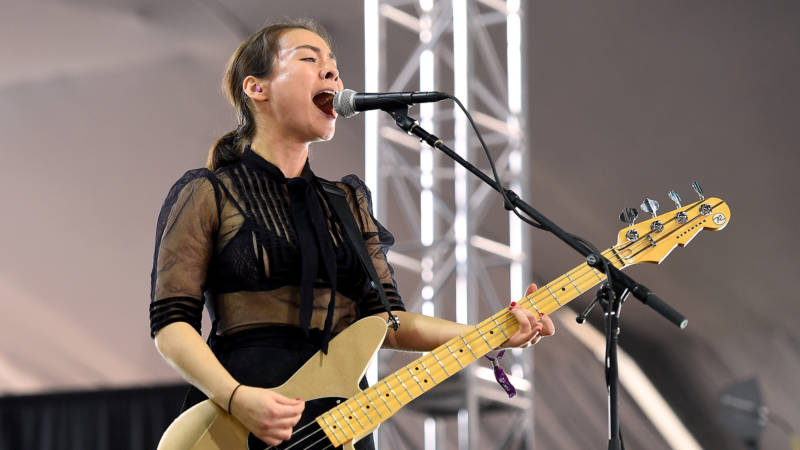 Mitski performs onstage during the 2017 Panorama Music Festival - Day 2 at Randall's Island on July 29, 2017 in New York City.