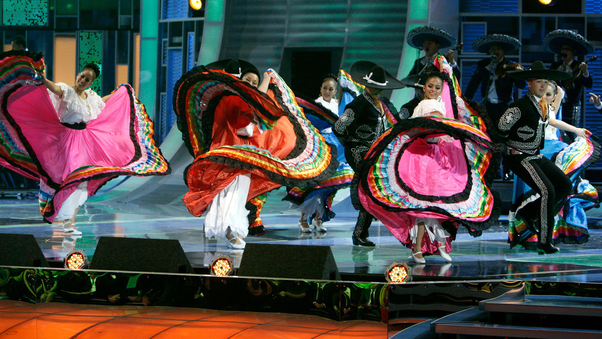Mariachi Vargas perform onstage during the 9th annual Latin GRAMMY awards held at the Toyota Center on November 13, 2008 in Houston, Texas.   Kevin Winter/Getty Images
