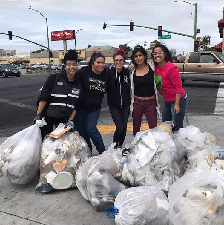 'Sideshows are part of our culture but trashing our city isn't!!' wrote user @HellaCrafty on Instagram, after cleaning up a sideshow intersection with friends.