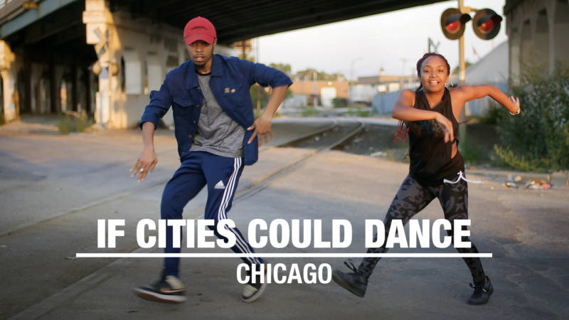 Chicago footwork dancers Chi Blu and LilBit