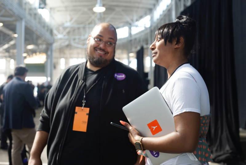 Dominique Fines and Y Combinator CEO Michael Siebel