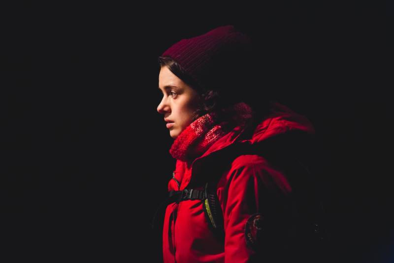 Beth (Rachel Redford) in 'The Jungle' at the Curran Theater.