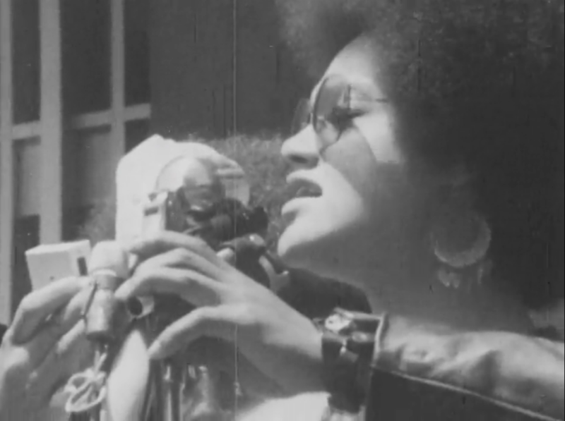 Kathleen Cleaver shown in a film from the Henry J. Williams Jr. Film Collection.