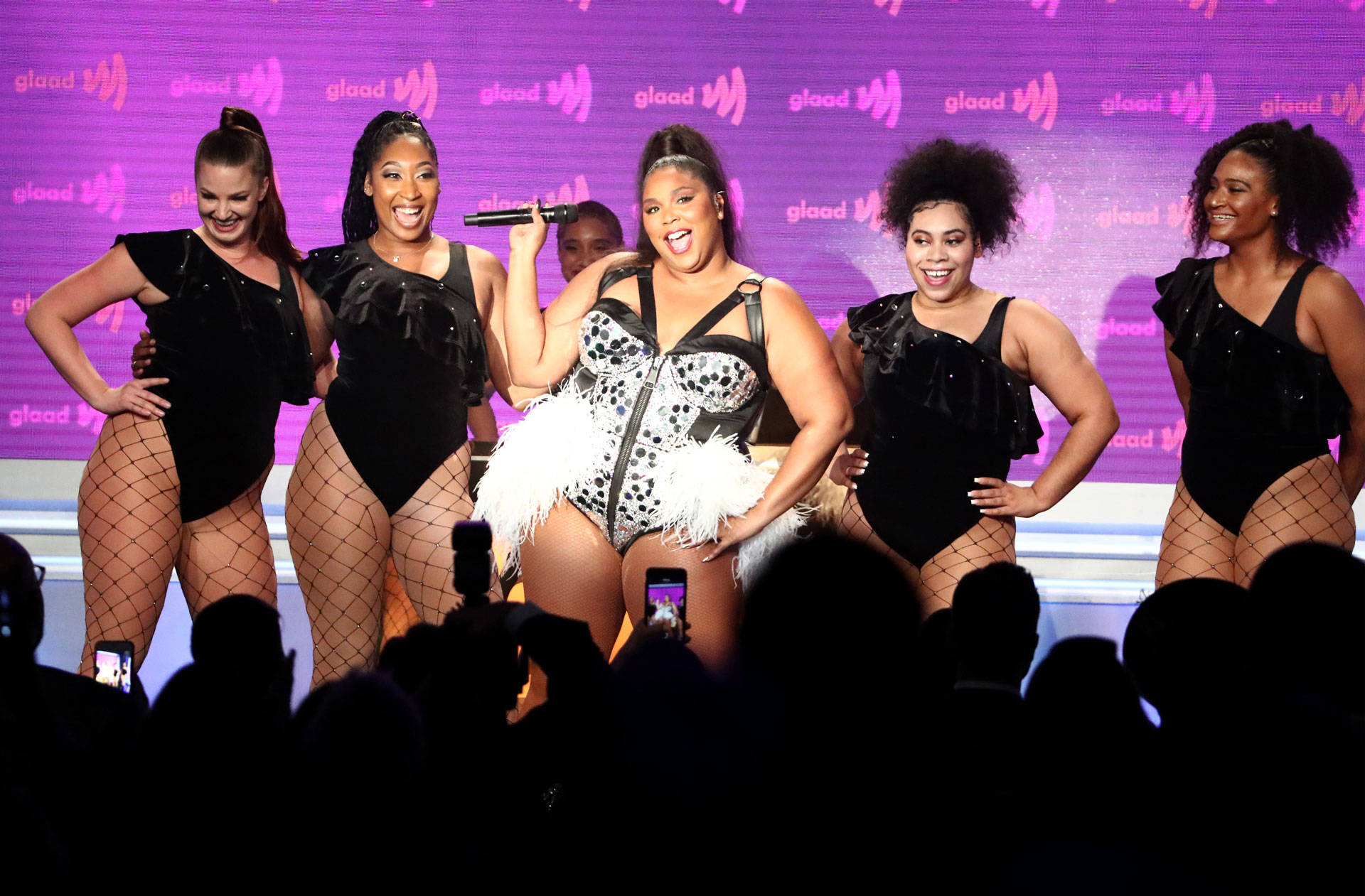 Lizzo performs onstage during the 30th Annual GLAAD Media Awards Los Angeles at The Beverly Hilton Hotel on March 28, 2019 in Beverly Hills, California.  Photo by Rich Fury/Getty Images for GLAAD