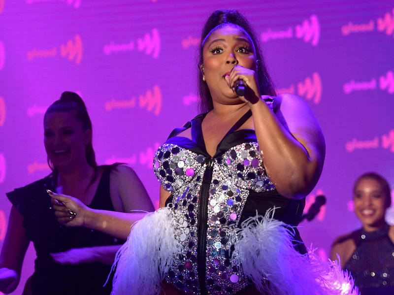 Lizzo performs onstage at the 30th Annual GLAAD Media Awards Los Angeles at The Beverly Hilton Hotel on March 28, 2019 in Beverly Hills, California.