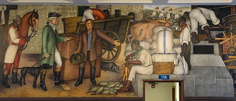 A WPA-era mural by Victor Arnautoff depicting slave ownership is part of a new controversy at George Washington High School in San Francisco.