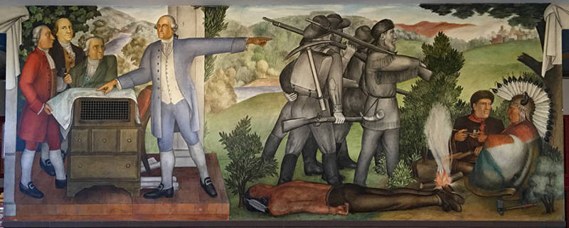 A WPA-era mural by Victor Arnautoff depicting slave ownership and Native American genocide is part of a new controversy at George Washington High School in San Francisco.