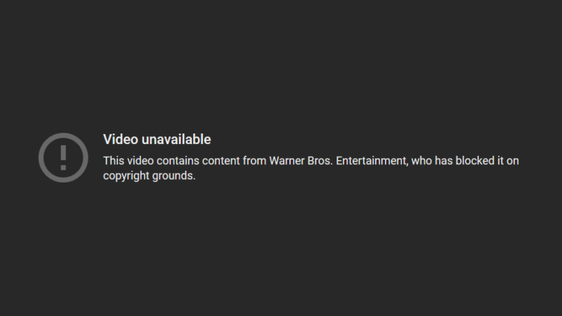 The video was removed from YouTube after Warner Bros. complained that the use of music from The Dark Knight Rises was a violation of its copyright.