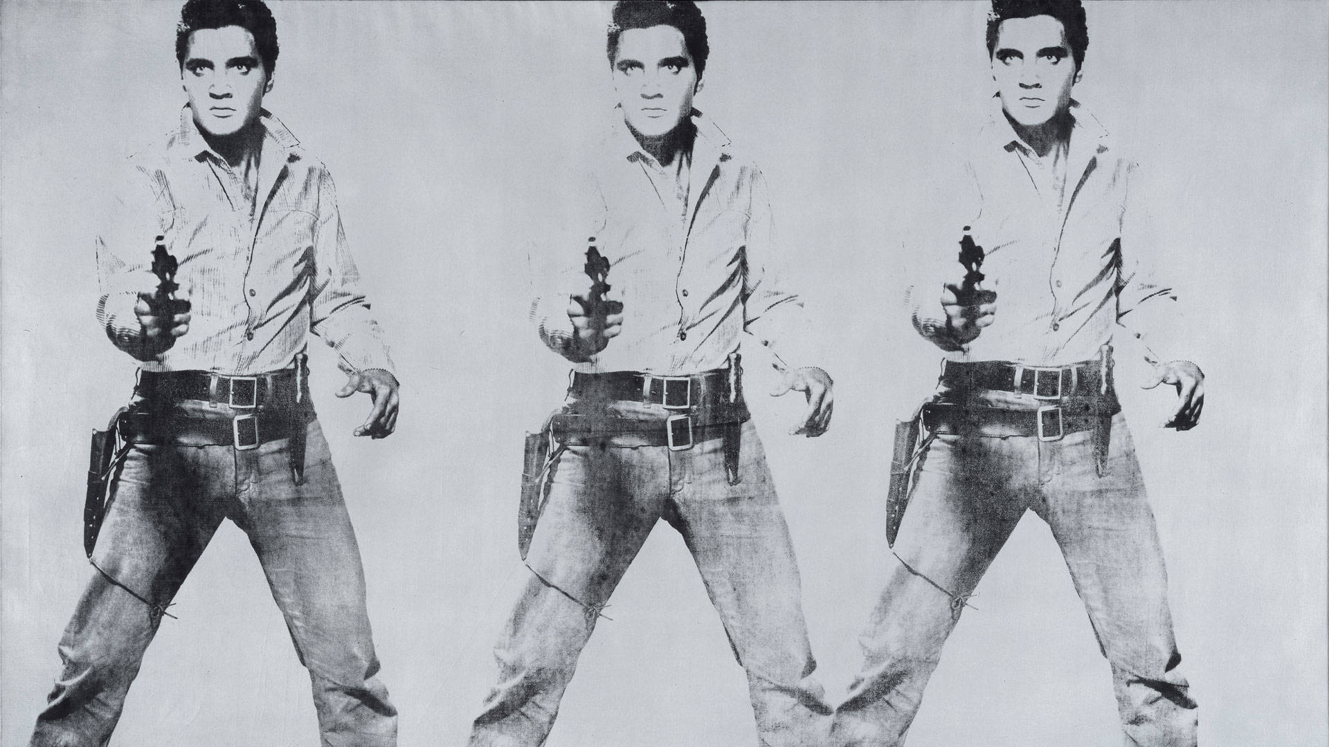 Andy Warhol, 'Triple Elvis [Ferus Type],' 1963. © The Andy Warhol Foundation for the Visual Arts, Inc. / Artists Rights Society (ARS) New York.
