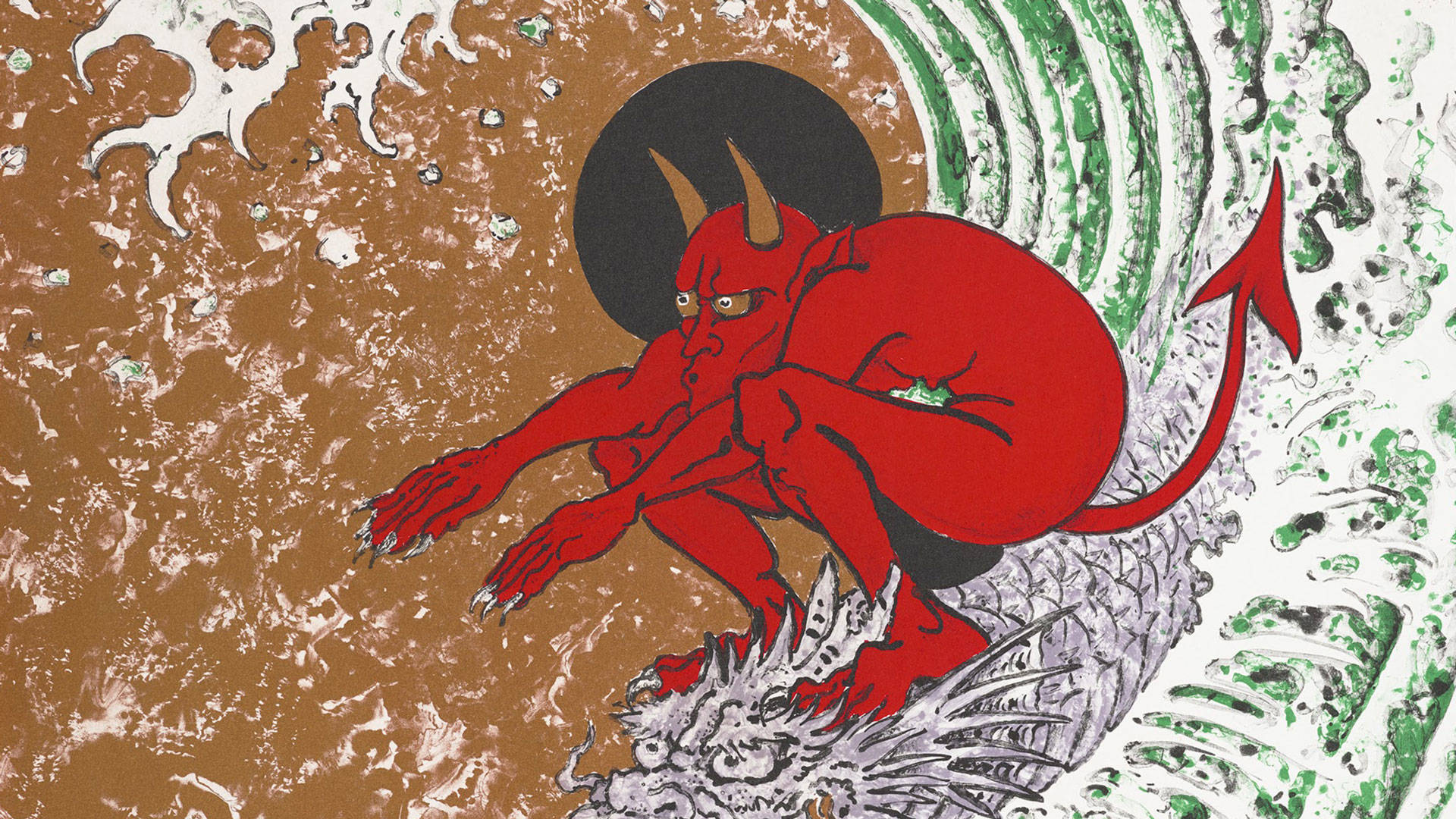 Don Ed Hardy, 'Surf or Die,' 2004. Printed by Bud Shark; Published by Shark's Ink, Colorado. Image courtesy of the Fine Arts Museums of San Francisco