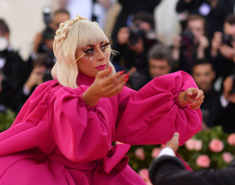 Singer/actress Lady Gaga arrives for the 2019 Met Gala at the Metropolitan Museum of Art on May 6, 2019, in New York. - The Gala raises money for the Metropolitan Museum of Arts Costume Institute.