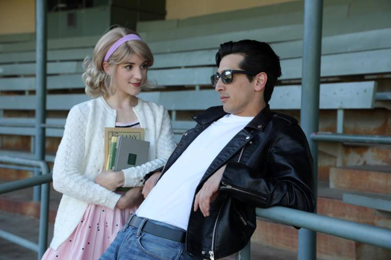 Chelsea Holifield (Sandy) and David Crane (Danny)  star in 'Grease' at the Mountain Play this year.