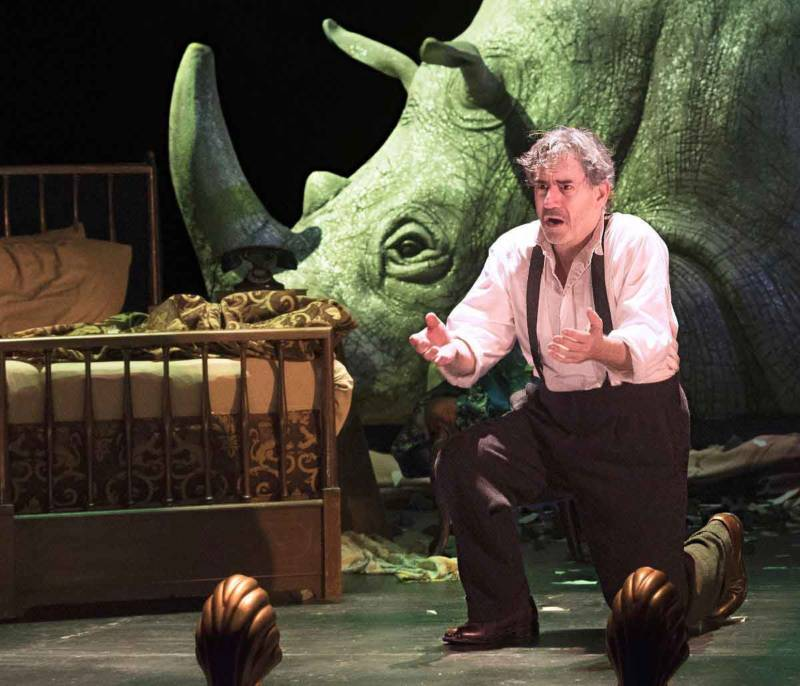 David Breitbarth in Eugène Ionesco's Rhinoceros at A.C.T.'s Geary Theater.