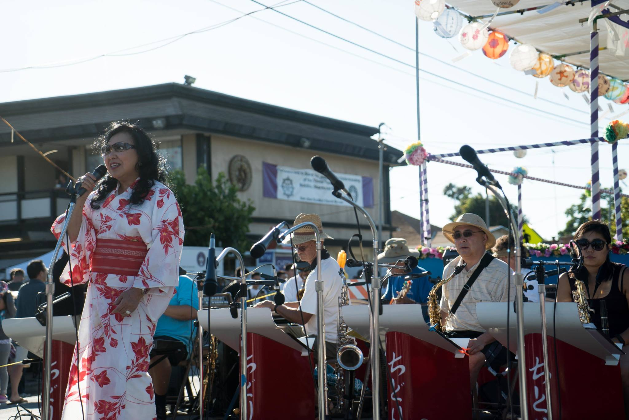 The Chidori Band performs at the Obon festival in San Jose's Japantown on July 9, 2016.