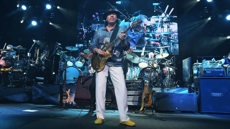 Carlos Santana performs at Madison Square Garden on April 13, 2016 in New York City.