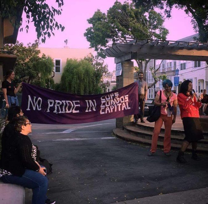 Gay Shame members at a 2017 protest.
