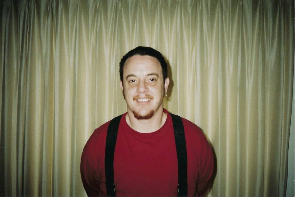 Arana at age 38, early in his transition, when he began to smile in pictures for the first time.