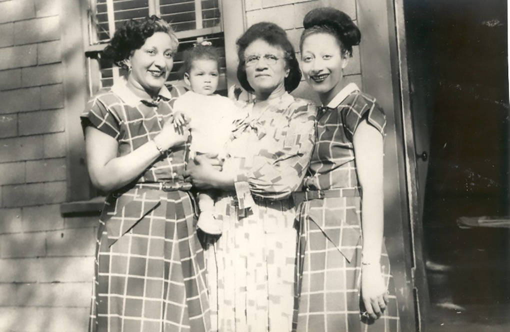 Jewelle Gomez with family in Boston in 1948.