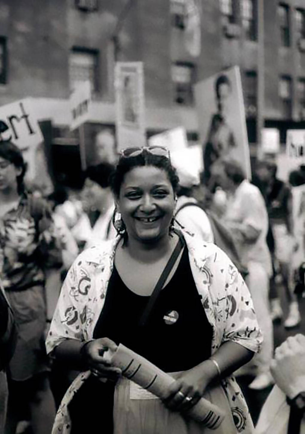 Jewelle Gomez at NYC Pride in 1989.
