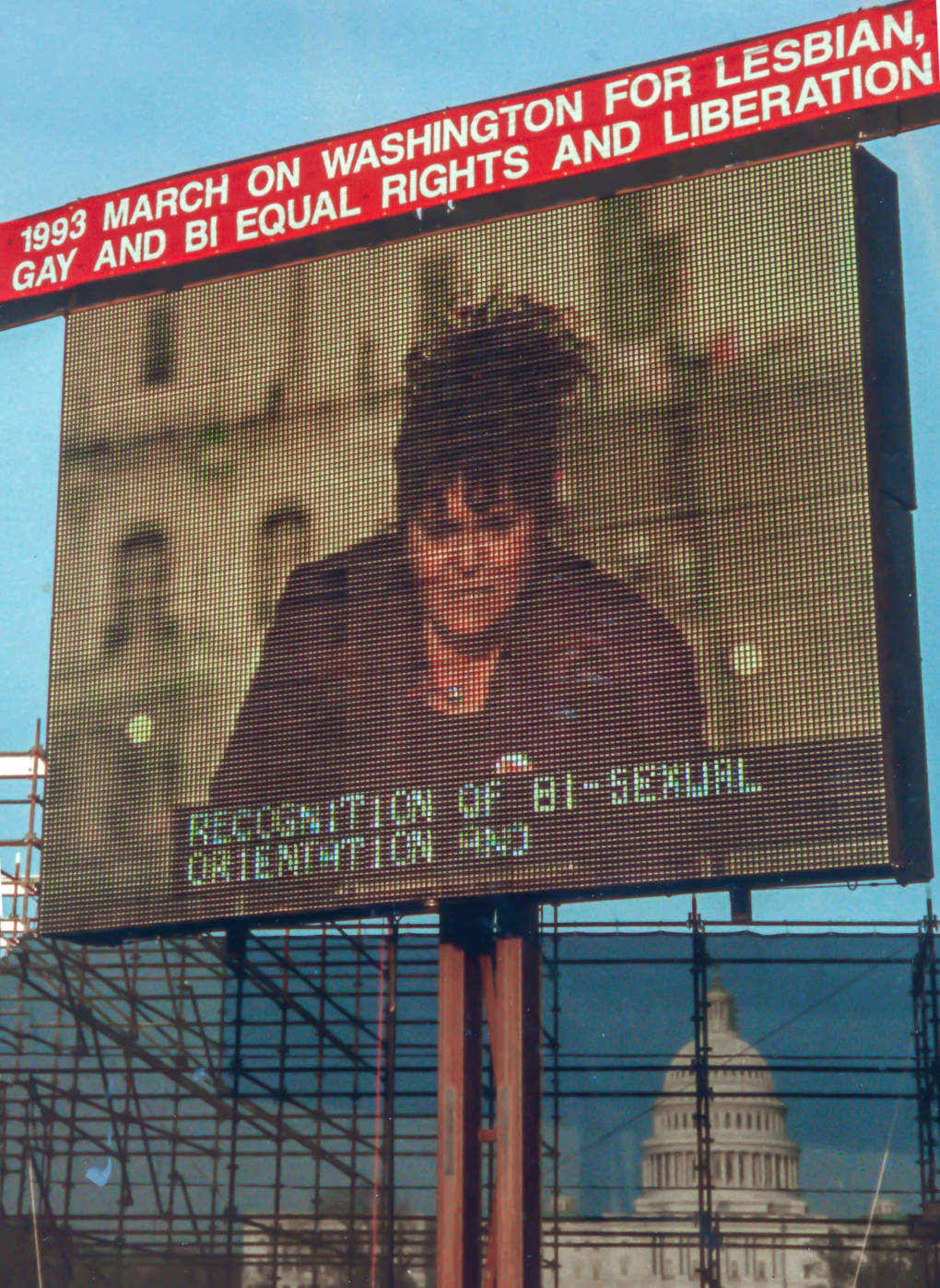Ka'ahumanu was the only out bisexual invited to speak on the main stage at the 1993 March on Washington.