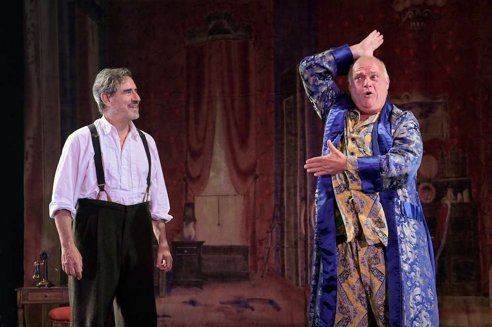 David Breitbarth as Berenger and Matt DeCaro as Gene, in 'Rhinoceros' at A.C.T.