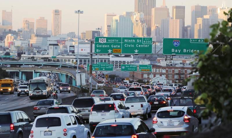 Rush hour in San Francisco.