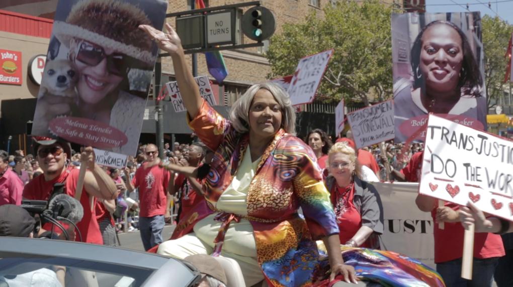 Miss Major at a Pride Parade in San Francisco.